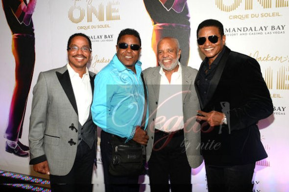 Berry Gordy and the Jackson Brothers